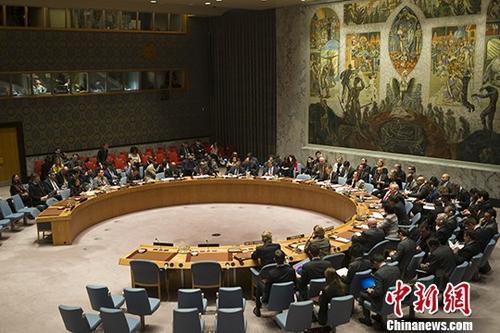 资料图:当地时间2018年1月5日,在美国的要求下,联合国安理会举行会议讨论伊朗局势。 中新社记者 廖攀 摄