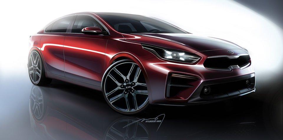 全新起亚K3轿车设计图公布 将亮相底特律车展