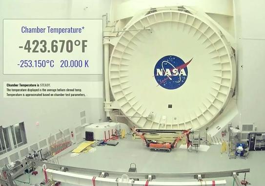 NASA詹姆斯韦伯太空望远镜完成真空极限低温测试
