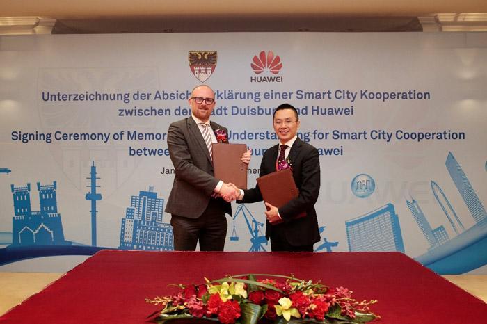 杜伊斯堡市和华为签署合作 携手打造智慧城市