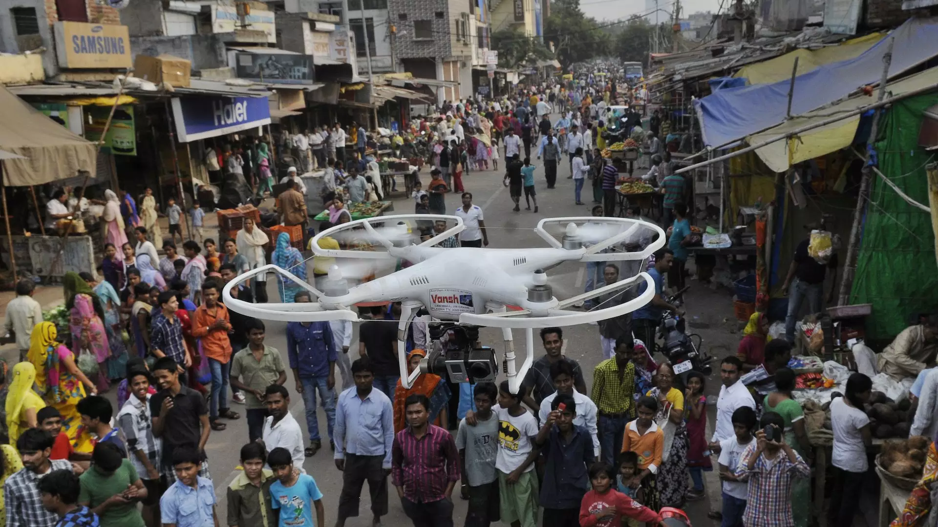 印度铁路系统用无人机监控人流