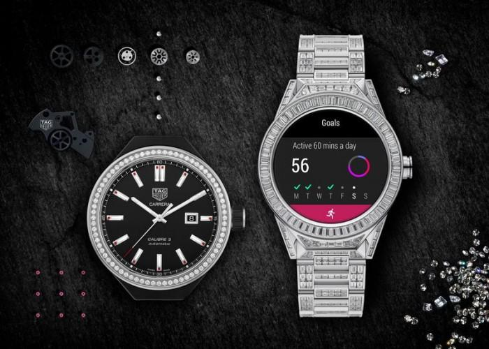 泰格豪雅推镶589颗钻石的智能腕表 售价20万美元