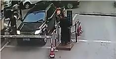 司机不满核实身份 竟向保安喷辣椒水