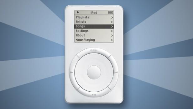 第一款iPod发布于2001年,拥有5GB的存储空间,能让你在口袋中放下1000首歌,仅可在Mac上运行。 零售价格为399美元(约2695元),许多人都曾对其表示怀疑,但最终这种设备改变了所有人听音乐的方式。
