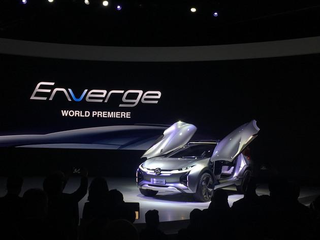 广汽Enverge新能源概念车正式亮相底特律车展