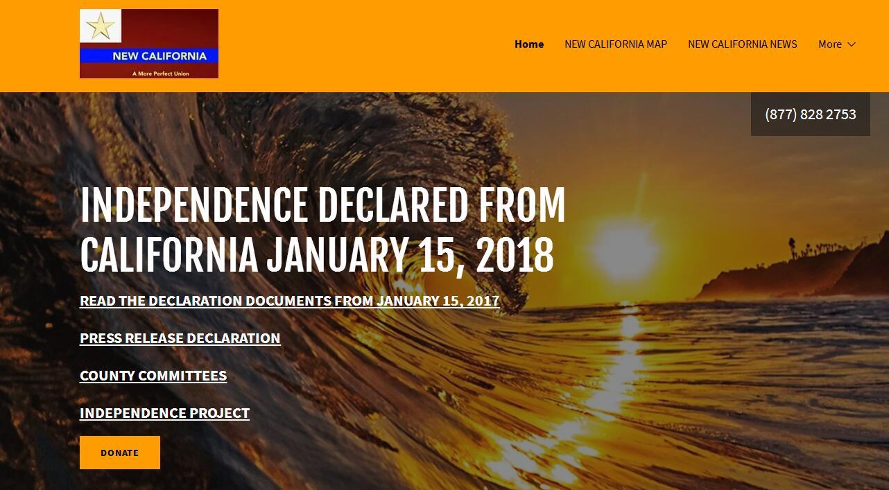 """受够了!""""新加州""""宣布独立 要成为美国第51州"""