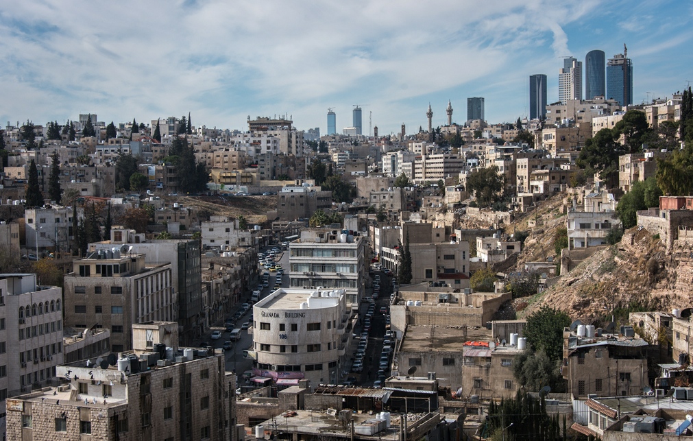 俯瞰约旦首都安曼 七个山头上的城市