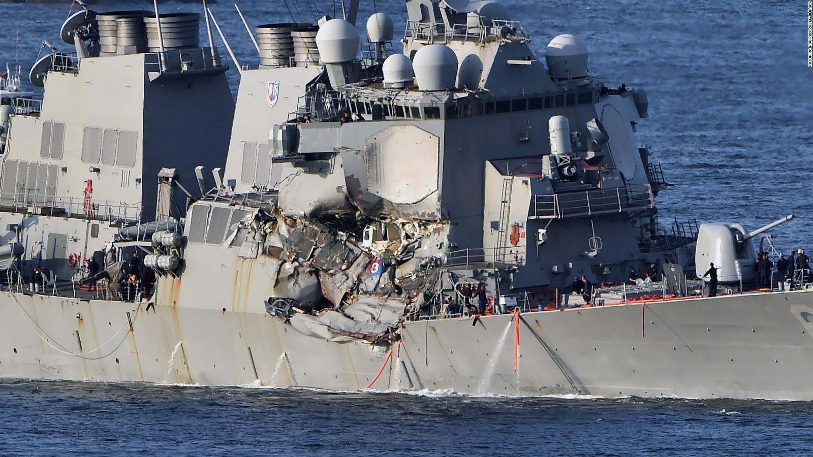 美海军:或以过失杀人罪名起诉撞船驱逐舰舰长