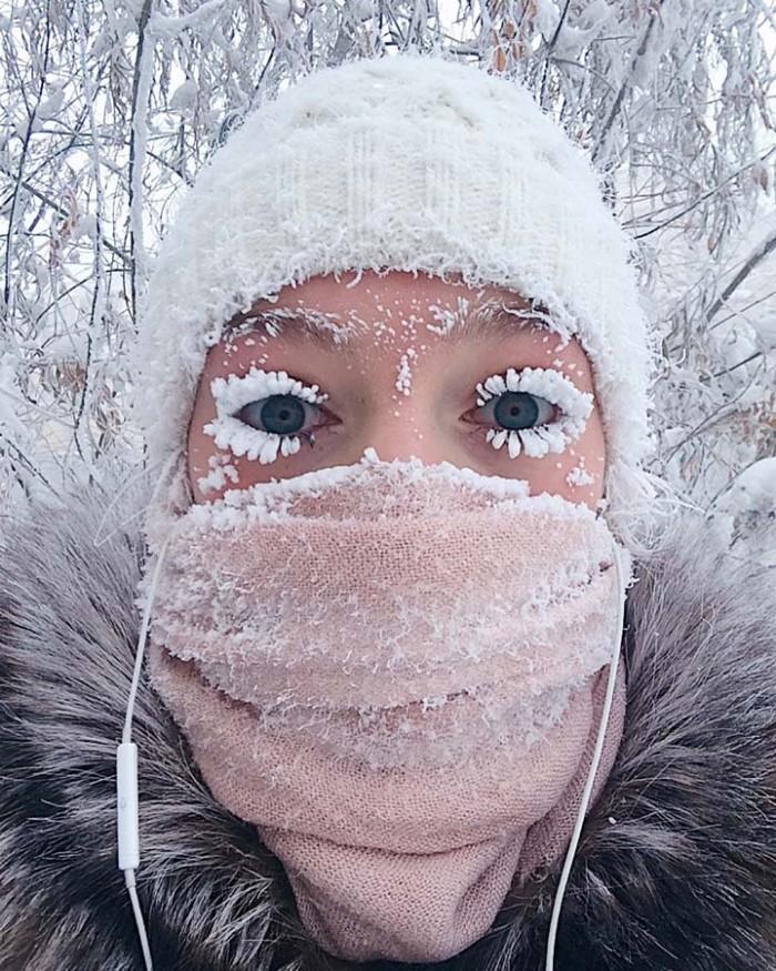 """俄罗斯奥伊米亚康村如此寒冷 导致温度计""""爆表"""""""