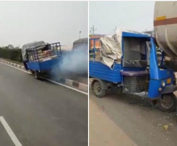 印无人驾驶突突车高速路横冲直撞引人担忧