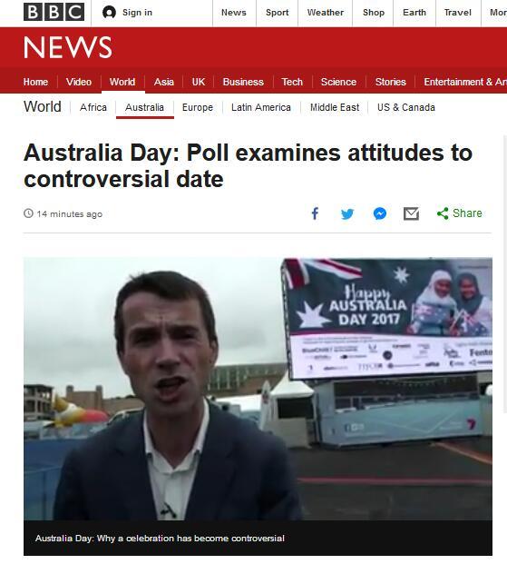 """国庆日实为庆祝""""殖民者入侵""""? 澳大利亚国内掀起改期运动"""