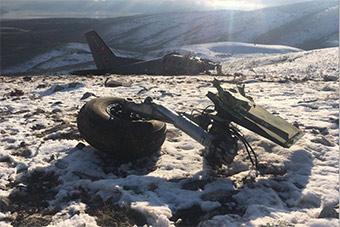 土耳其运输机坠毁残骸遍地 机上三人身亡