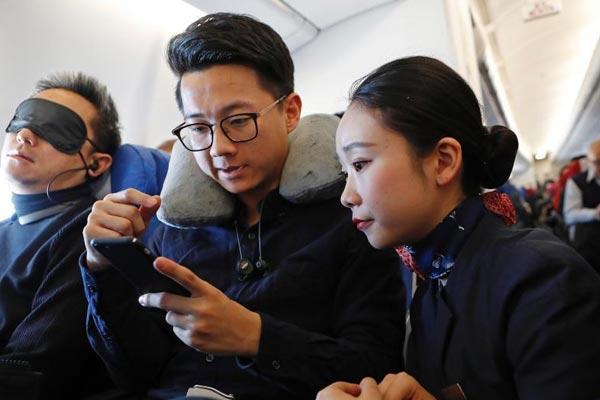 """中国民航迈入""""空中手机开机""""时代"""