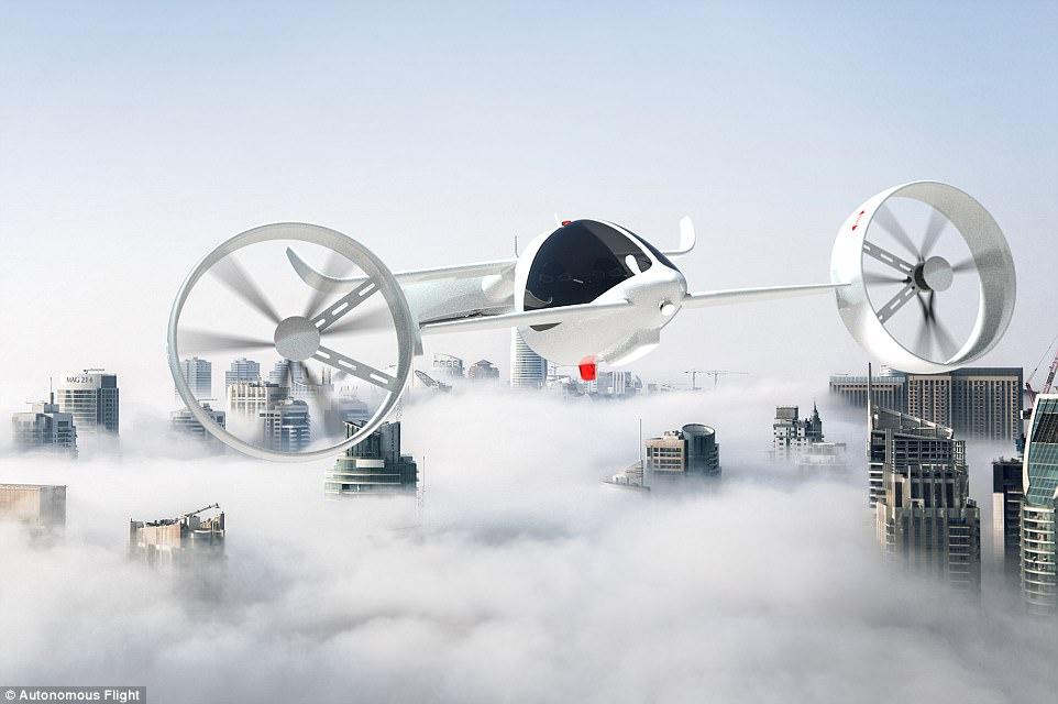 英国公司计划2018年底试飞载人无人机 预售价约18万