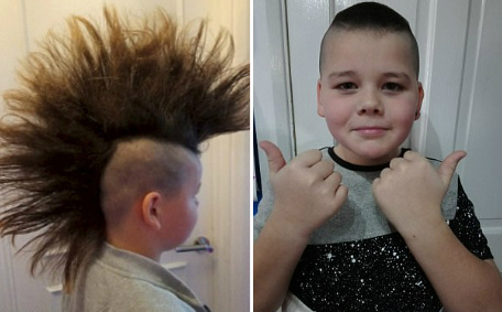 不惧冷眼!英男孩蓄发5年为患癌者捐假发