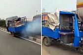 印无人驾驶突突车高速路上横冲直撞