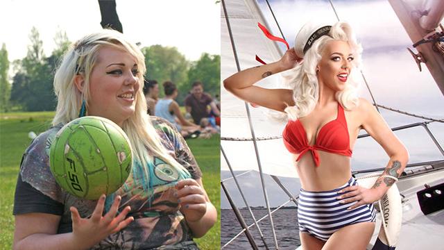 英国胖妞减重后成性感女神 曾每年花10万吃麦当劳
