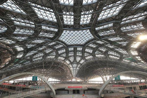"""北京新机场内部结构曝光 如""""星际空间站"""""""