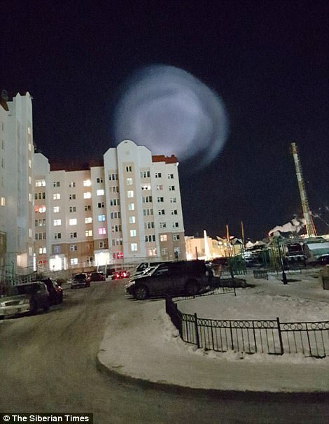 西伯利亚夜空惊现巨大光球 群众:外星人来了