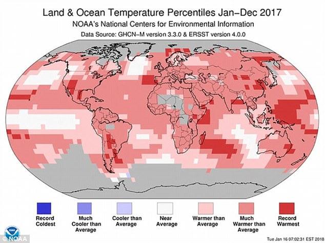 2017年成史上最热一年 人类影响已超自然力量