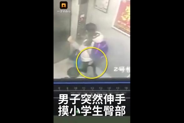 江苏一男子电梯内猥亵小学生:伸手摸臀持续10秒
