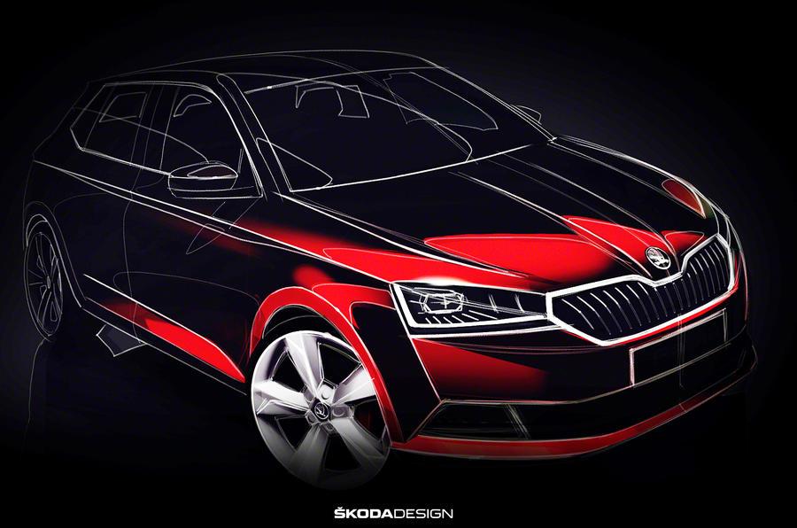 斯柯达发布改款晶锐设计图 将亮相2018日内瓦车展