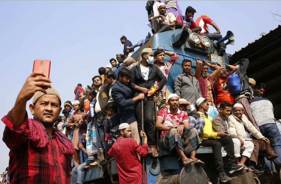 """世界穆斯林大会结束 再现""""挂火车""""盛况"""