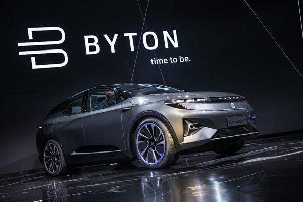中国新能源汽车初创企业拜腾寻求4亿美元融资