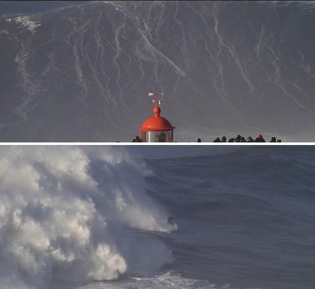 德冲浪者葡萄牙近海挑战高耸巨浪 惊为天人