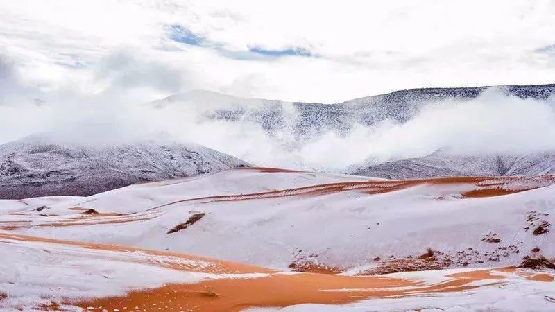 沙漠雪景称奇,新疆下了一场雪,美哭了全世界!