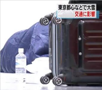东京大雪导致航班延误 9000人在成田机场度过一夜