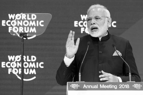 莫迪在达沃斯展示印度雄心:将中国当作赶超对象!