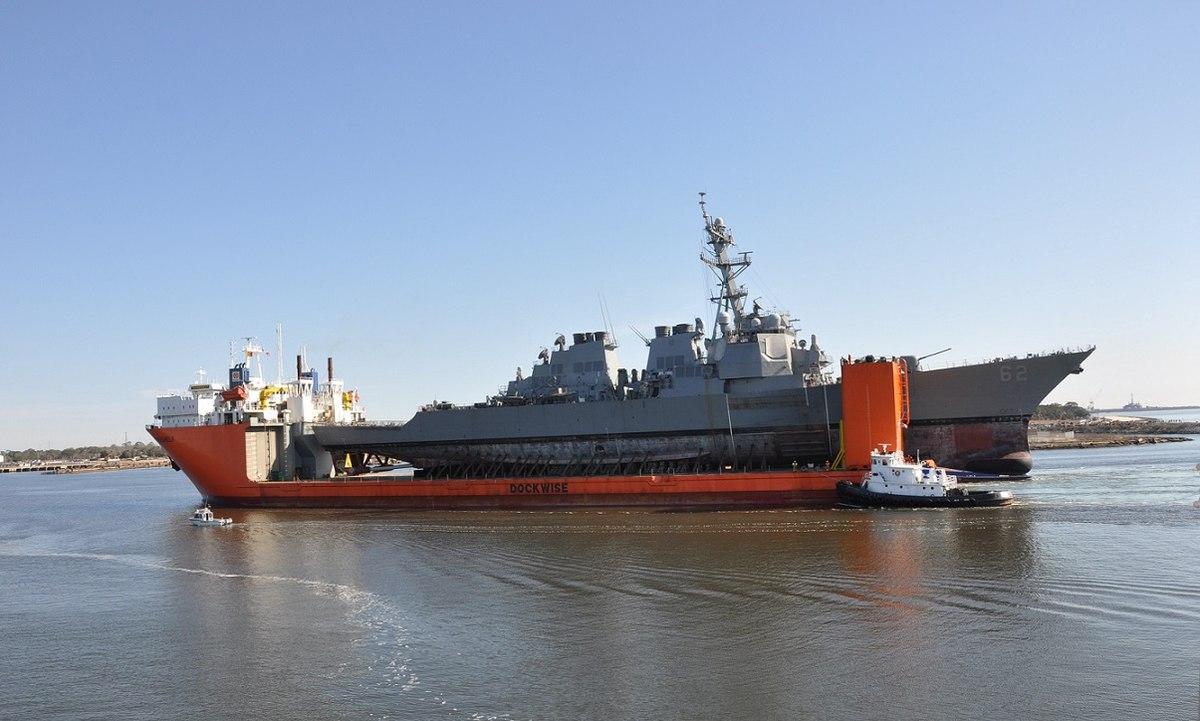 美国受损驱逐舰返回美国 将进行两年长期维修