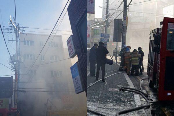 韩国密阳世宗医院起火 41人遇难70多人受伤