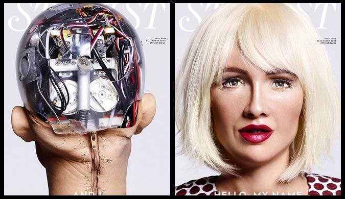 天啊!连机器人索菲亚都开始拍时尚大片了