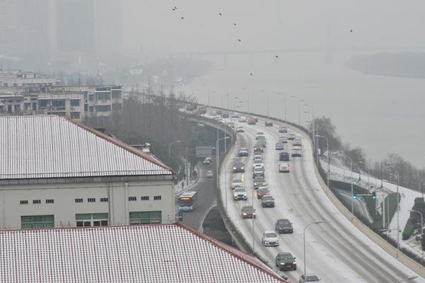 长沙出现降雪天气