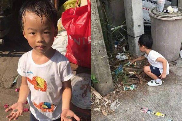 泰国5岁男童不想上学,妈妈:那就捡垃圾去吧!