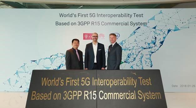 德国电信、英特尔和华为共同完成全球首个5G新空口互操作测试