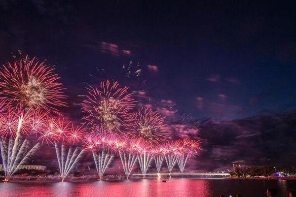澳大利亚首都烟花秀庆国庆