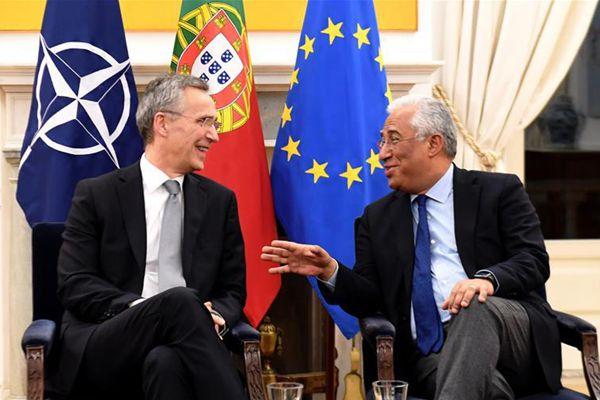 北约秘书长斯托尔滕贝格访问葡萄牙