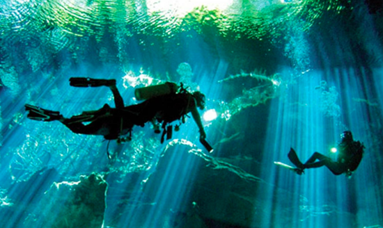 极限潜水新去处:世界上最长的水下洞穴