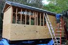 美大学生自建移动房