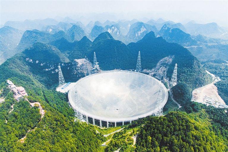世界上最大的全可动射电望远镜在中国开工建设