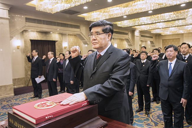国家安全监管总局举行国家工作人员宪法宣誓仪式