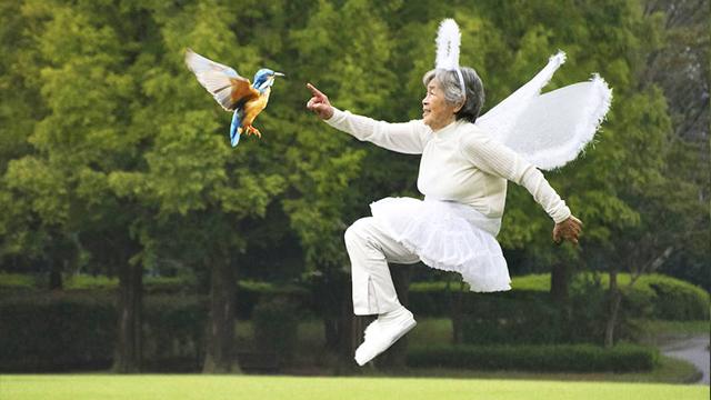 谁说退休只能跳广场舞?日本90岁奶奶清奇搞笑摄影圈粉无数