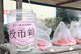 成都无人菜市生意火爆 民众在塑料桶里付钱找零