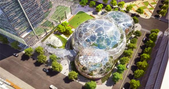 """亚马逊总部扩建了一片""""热带雨林"""":造价40亿美元"""