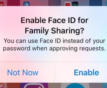 iOS 11.3中Face ID面部技术将支持家庭购买