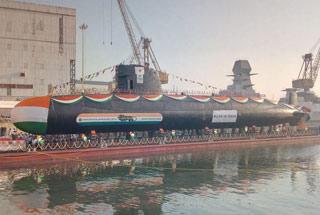印度第三艘国产版鲉鱼级潜艇下水 又晚了好几年
