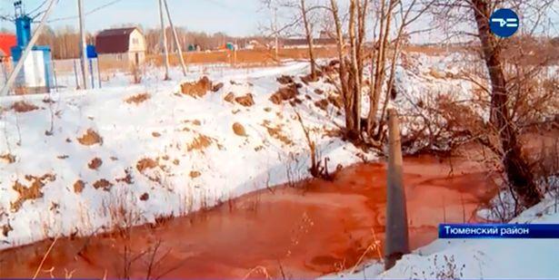怪现象!俄河流突变血红色专家不得其解